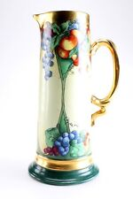 Early c1900 Jean Pouyat J.P.L. France Limoges, Hand-painted 559 Tankard Pitcher