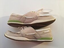Margaritaville Lady Caught Boat /Deck Shoes Sz 9.5 Cream / White Suede / Nubuck