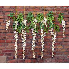 Artificial Wisteria Vine Silk Flower Bouquet Wedding Party Home Decorative Plant