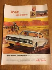 1964 Oldsmobile F-85 Cutlass Print Advertisement Color Magazine Ad Olds GM