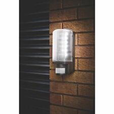 More details for motion outdoor e27 bulkhead - movement sensor pir - wall light - black - ip44