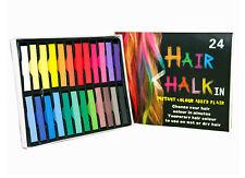 HAIR CHALK TEMPORARY HAIR DYE COLOUR SOFT PASTELS SALON KIT 24