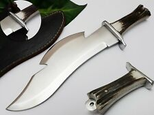 LOUIS SALVATION CUSTOM & HANDMADE STAINLESS STEEL STAG ANTLER HUNTING KNIFE