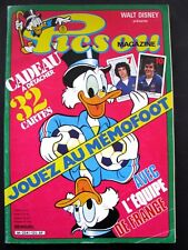 Picsou Magazine N° 125 1982 TBE Avec ses cartes de l'équipe de France