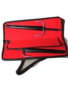 "19.5"" Pink Steel Leather SAI & Case Karate Martial Arts Weapon 49.5 cm"