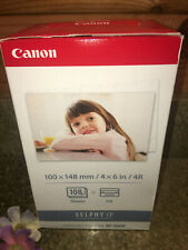 Canon Selphy KP-108IN Color Ink Paper Set 108 4x6 Sheets with 3 Toners New Seale