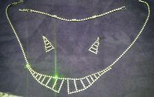 Vintage Diamond Rhinstone Necklace, Bracelet, Earring Set