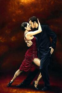 That Tango Moment - Signed Fine Art Giclée Print. Figurative dancer oil painting