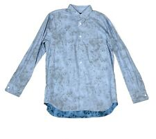 COMME DES GARCONS Long Sleeve Mens Button Homme Plus Blue NEW