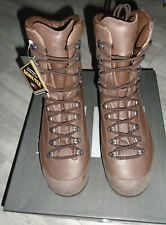 KARRIMOR  MENS BROWN LEATHER COMBAT COLD WEATHER BOOTS SIZE 12W BRITISH ARMY NEW