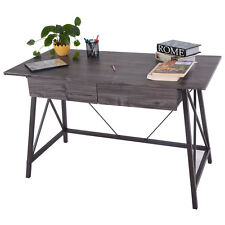 Wood Writing Desk Computer Table with Drawers Home Office Furniture Workstation