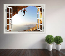 Rock Climbing Extreme sports window wall sticker (17339236ww) Outdoors Canyon