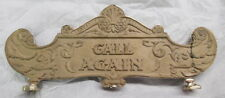 HALLWOOD CASH REGISTER TOP SIGN 2 SIDED AMOUNT PURCHASED CALL AGAIN