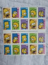 The simpsons Twenty 44cent Stamps Five Different  Designs  United States  Postal