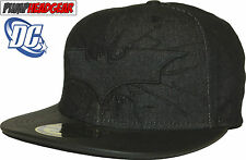 DC Comics Batman The Dark Knight Rises Denim/Faux Leather Snapback Cap