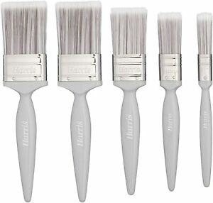 """Harris Essentials Wall & Ceiling Paint Brush - 0.5"""", 1"""", 1.5"""", 2"""", 3"""", 3/5 Pack"""