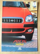 HYUNDAI ATOS PRIME 2002 sales brochure prospekt - German text Swiss Mkt