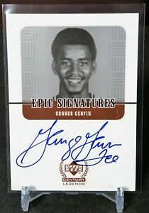 "1999 UD Century Legends Epic Signature GEORGE ""ICE"" GERVIN ON CARD NICKNAME AUTO"