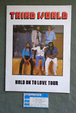Third World Hold on to Love Tour Program and Concert Ticket 1987
