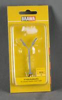 BRAWA 4520 [Spur N] Peitschenleuchte 2-fach (mit Birnen), Höhe 55mm NEUWARE!