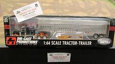 DCP #30599 BLACK PETE 379 SEMI CAB TRUCK CATTLE POT LIVESTOCK TRAILER 1:64/ FC