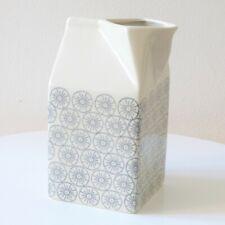 Milk Carton Style Ceramic Jug ~ Grey & White Pattern ~ Designed in Denmark