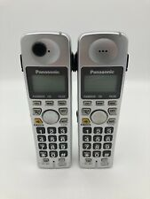 Set Of 2 Panasonic KX-TGA101S Phone Handset Telephone Silver