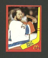 Billy Smith New York Islanders Goalie #4 1982-83 McDonald's Hockey Sticker NM/M