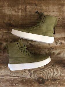 XO x Puma Army Green High Top Sneakers Men's 8