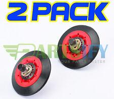2 PACK NEW! 4581EL2002C DRYER DRUM ROLLER WHEEL & SHAFT KIT FOR LG KENMORE SEARS