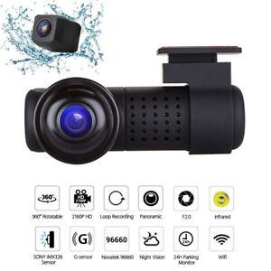 360° Panoramic WiFi Car Vehicle Dash Cam Infrared Night Vision HD 2160P G-sensor
