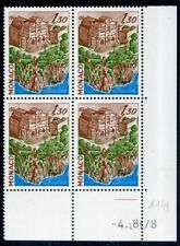 STAMP / TIMBRE DE MONACO  N° 1149 ** SITES ET MONUMENTS //  BLOC DE 4 COIN DATE