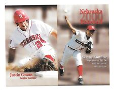 2000 Shane Komine J Cowan Nebraska Cornhuskers Huskers Baseball Pocket Schedule