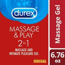 Durex Massage and Play 2-in-1 Massage Gel and Personal Lubricant, Sensual...