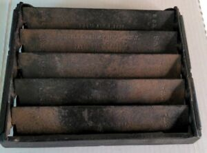 Antique CAST IRON 8x10 TUTTLE & BAILEY GRATE patented 1886 black