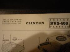 clinton parts list,clinton bvs-400 panther illustrated clinton engine 1963pr