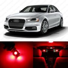 14 x Brilliant Red LED Interior Light Package For 2009 - 2013 Audi A4 S4 B8