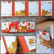 San-X Rilakkuma Bear Post-it 4 Fold: Sticky Memo paper pad stickers notes (Red)