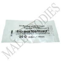 T001 Sterilized Body Piercing Hollow Needles 20G Gauge 0.8mm PICK YOUR QTY