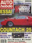 AUTO HEBDO n°654 du 7 Décembre 1988 LAMBORGHINI COUNTACH & P140 MERCEDES 190 2.3