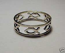Fish Forgiven Ring, Sterling Silver
