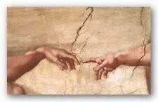 MUSEUM ART PRINT The Creation of Adam Michelangelo Buonarotti 16x25