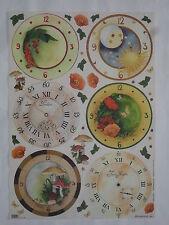 papier pour découpage technique serviette (thème: 6 horloges, montres) 68X48cm