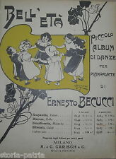 MUSICA_ANTICO SPARTITO_BECUCCI_ALBUM DI DANZE_SMORFIOSETTA_CASALTOLI_RADICONDOLI
