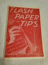Flash Paper Tips Stuart Robson Ralph W. Read 1976 publication