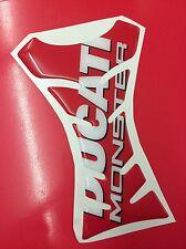 Paraserbatoio Resinato Sticker 3D DUCATI Monster Red