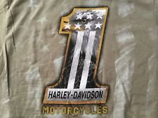 Harley Davidson #1 Patriotic Flag Eagle Sage Shirt Nwt Men's 4XL