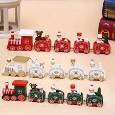 Christmas decorations of handmade wooden train or children's holiday gifts