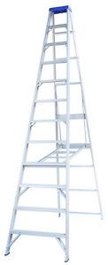 INDALEX Pro Series Aluminium Single Sided Step Ladder 14ft 4.3m