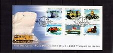 2000 NZ Ross Dependency Set Of 6 Transport On The Ice FDC, Very Good Condition
